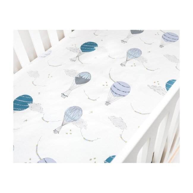 Touch The Sky Crib Sheet, Blue