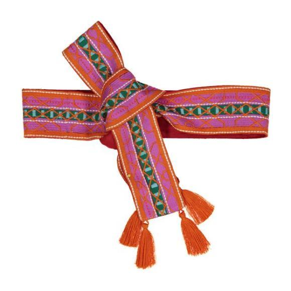 Woven Women's Belt, Pink Orange Green