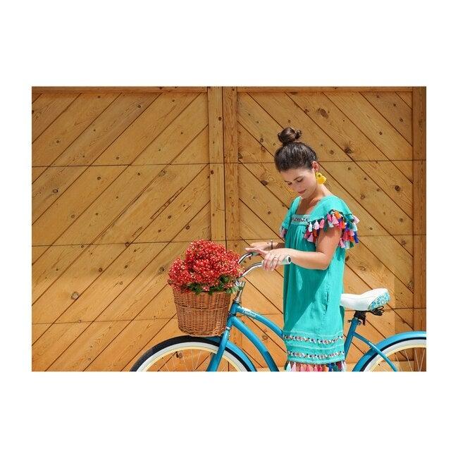 Mini Sandrine Women's Tassel Dress, Emerald