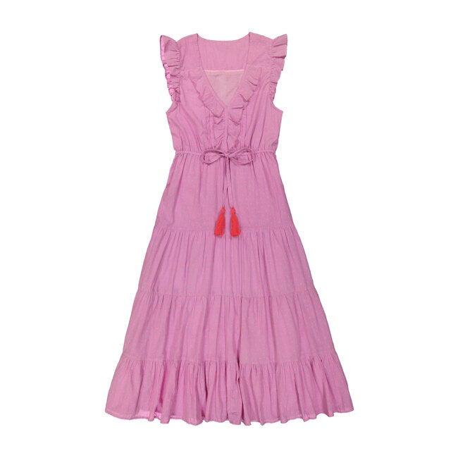 Giselle Women's Maxi Dress, Pink Swiss Dot