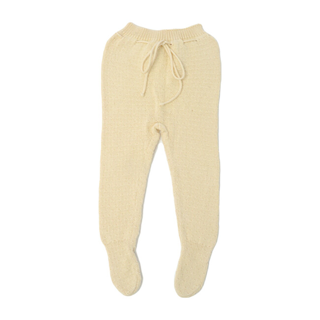 Edu Knit Pants, Cream Cotton