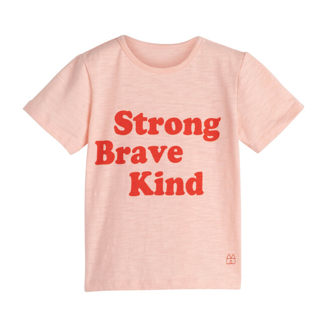 Strong Brave Kind Tee, Pink - Tees - 1