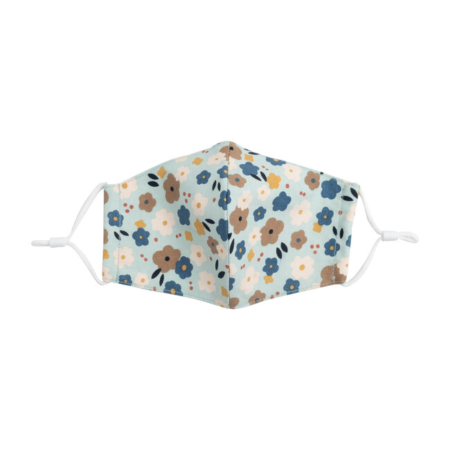 Kids Graphic Flower Mask Bundle, Blue Multi