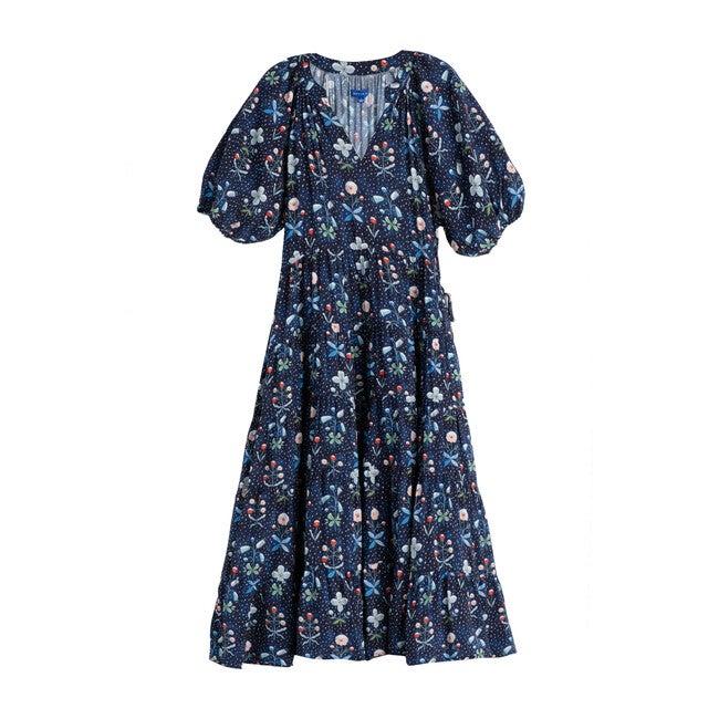 Hadley Women's Tiered Dress, Winter Berries