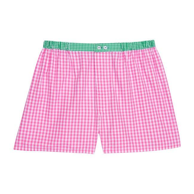 Men's Boxer Shorts, Gingham Pink