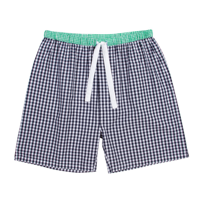 Men's Sleep Shorts, Gingham Blue