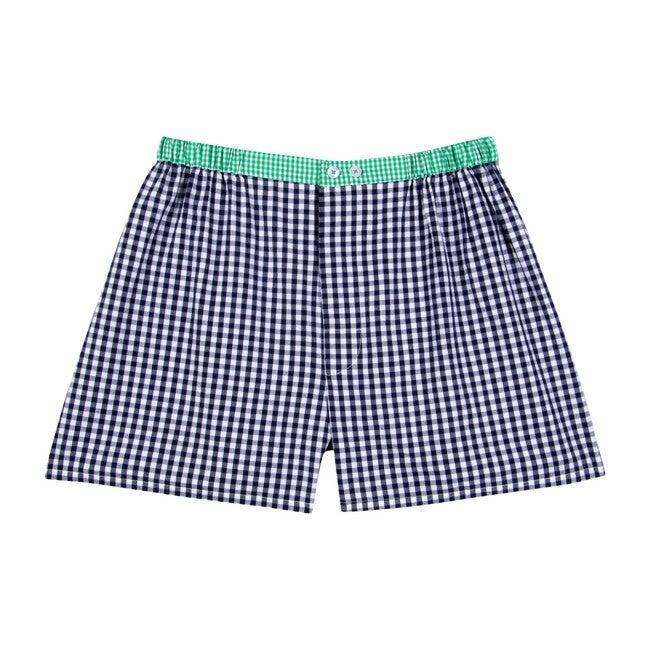 Men's Boxer Shorts, Gingham Blue