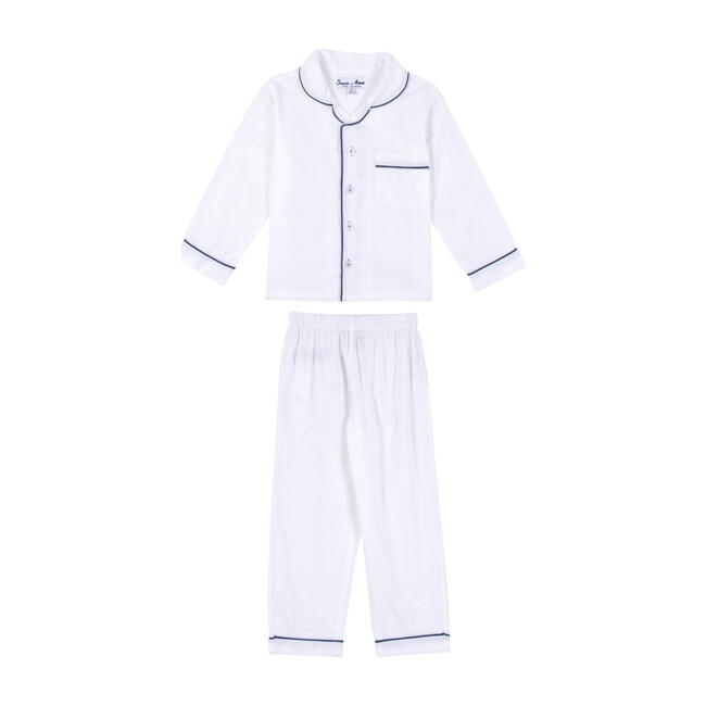 Boys Long Sleeve & Pant Set, White