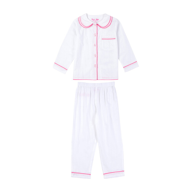 Girls Long Sleeve & Pant Set, White