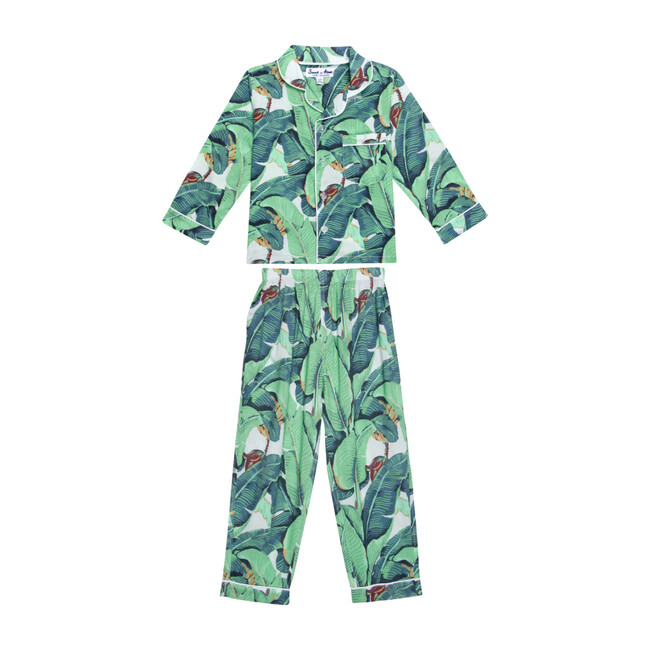 Kids Long Sleeve & Pant Set, Martinique Banana Leaf