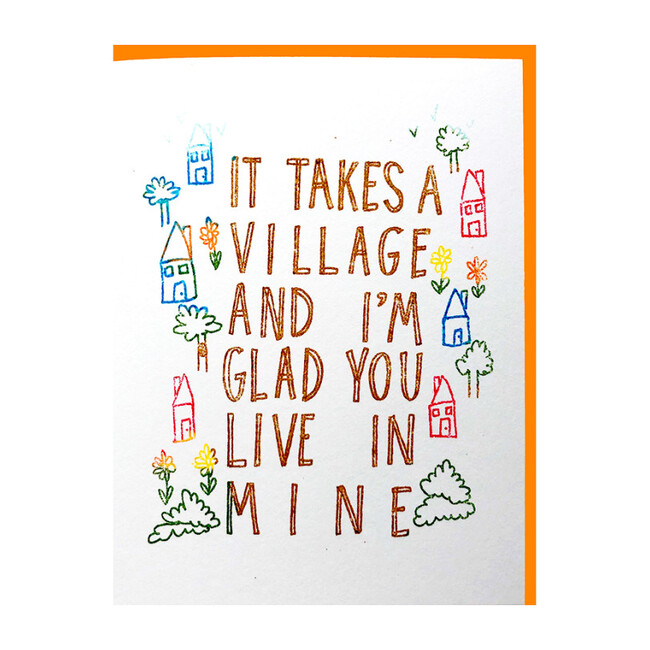 Set of 6 It Takes a Village Cards