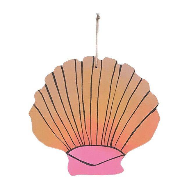 Handpainted Seashell Wall Charm, Sunset