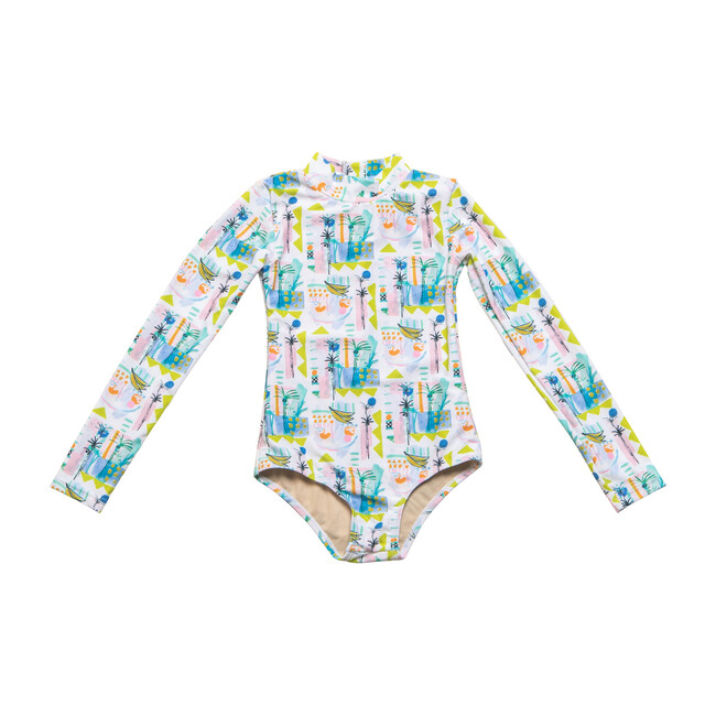 *Exclusive* Mini Kelly Long Sleeve One Piece, Sol Fruit