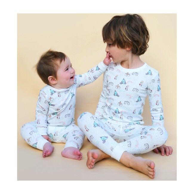 Printed Pajama Set, Unicorns