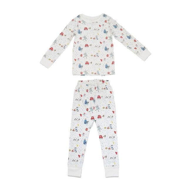 Printed Pajama Set, Winter Friends