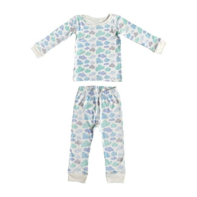Printed Pajama Set, Clouds