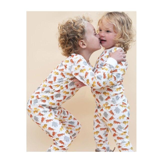 Printed Pajama Set, Lions Tigers & Bears