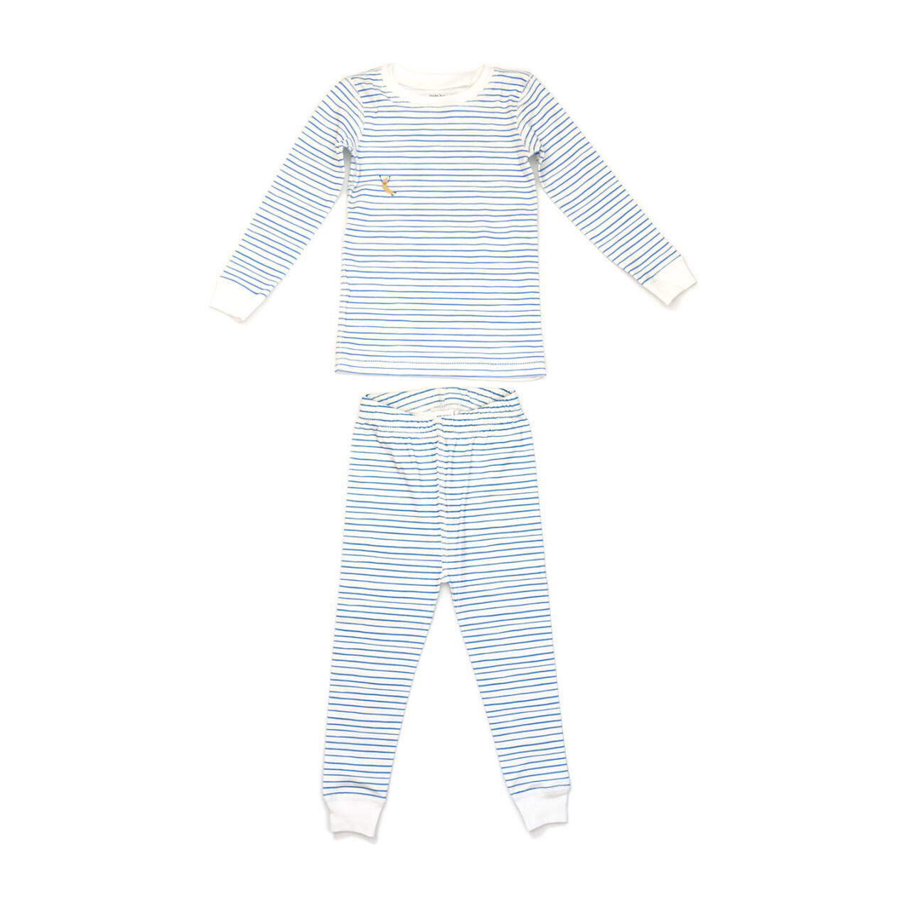 Printed Pajama Set, Blue Stripes