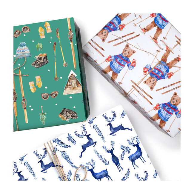 Winter Wrapping Paper Trio