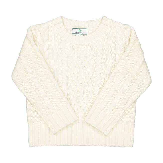 Fishers Cable Sweater, Parchment