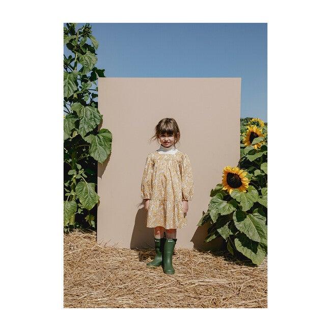 Maelle Square Neck Dress, Autumn Blooms