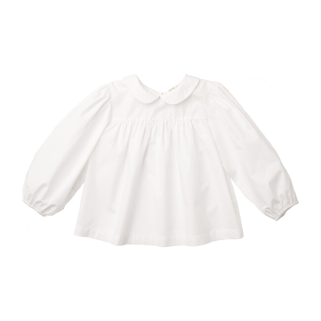Esther Peter Pan Blouse, White