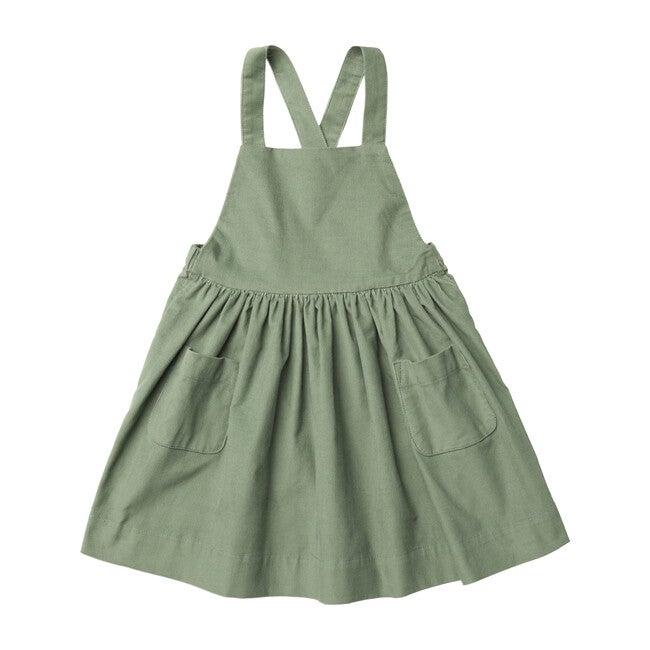 Ines Pinafore Dress, Lichen