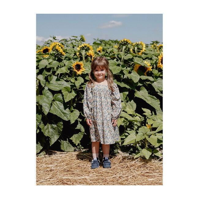 Maelle Square Neck Dress, Poppy Forest