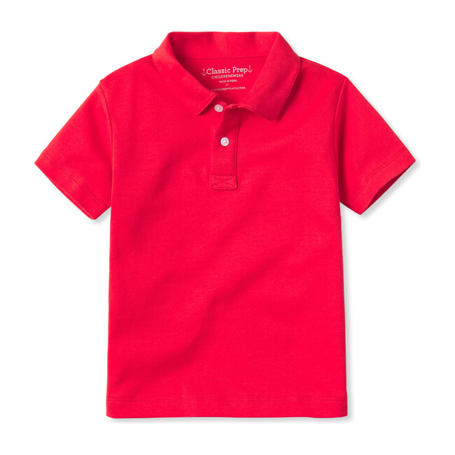 Henry Short Sleeve Pima Polo, High Risk Red