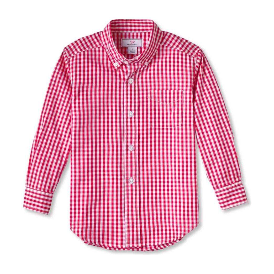 Owen Buttondown Shirt, Red Gingham