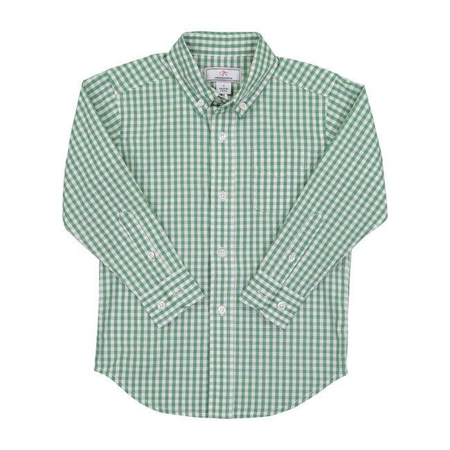 Owen Gingham Shirt, Frosty Spruce