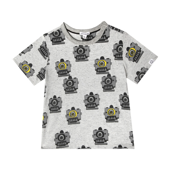 Noah T-Shirt, Robot Print - Tees - 1