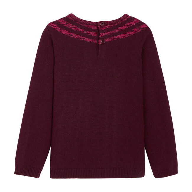 Illusion Effect Sweater, Plum
