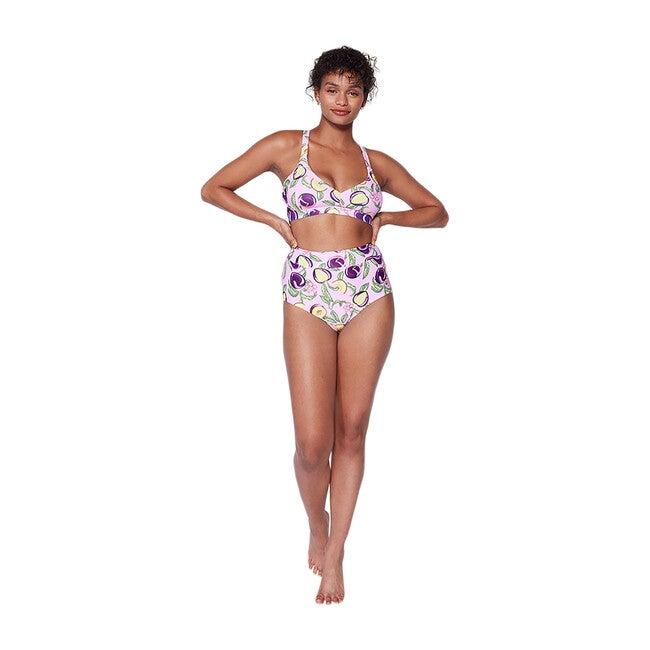 Women's Joana High Rise Moderate Coverage Swim Bottom, Honey Plum