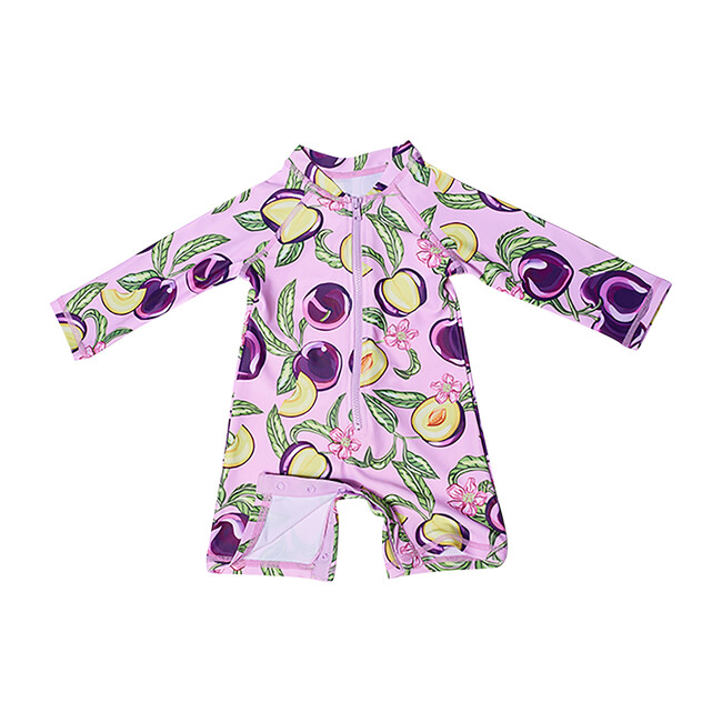 Mini Taylor Baby Long Sleeve Sunsuit, Honey Plum