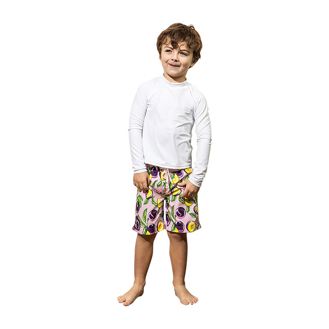 Mini Major Boys Boardshort, Honey Plum