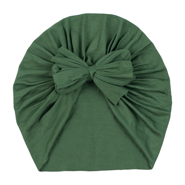 Classic Bow Headwrap, Olive Green