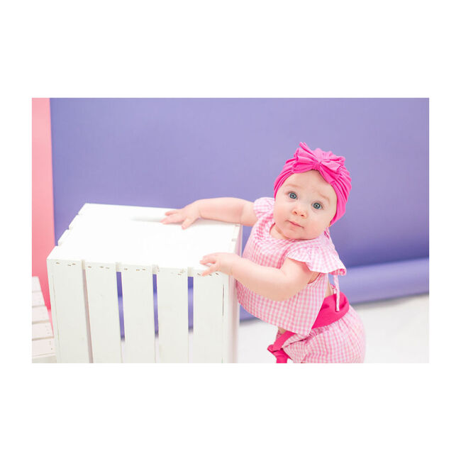 Classic Bow Headwrap, Hot Pink