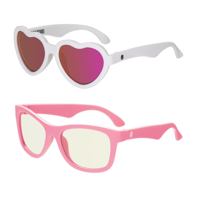 Babiators Sun & Screen Gift Set, Think Pink! & Sweetheart Polarized Shades