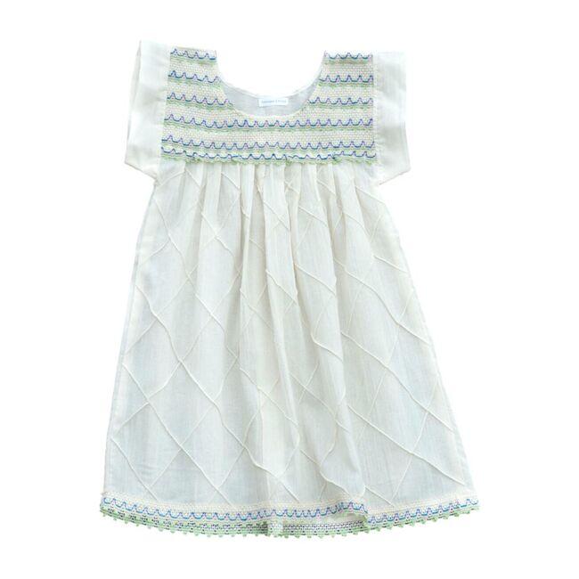 Scalloped Dress, Natural