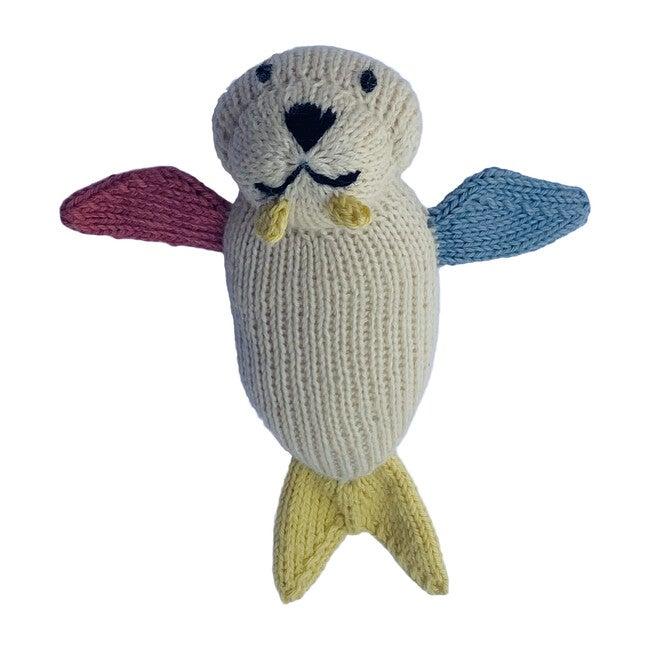 Walrus Hand Knit Rattle - Plush - 1
