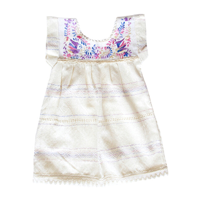 Birds Of Paradise Embroidered Dress, Lavender