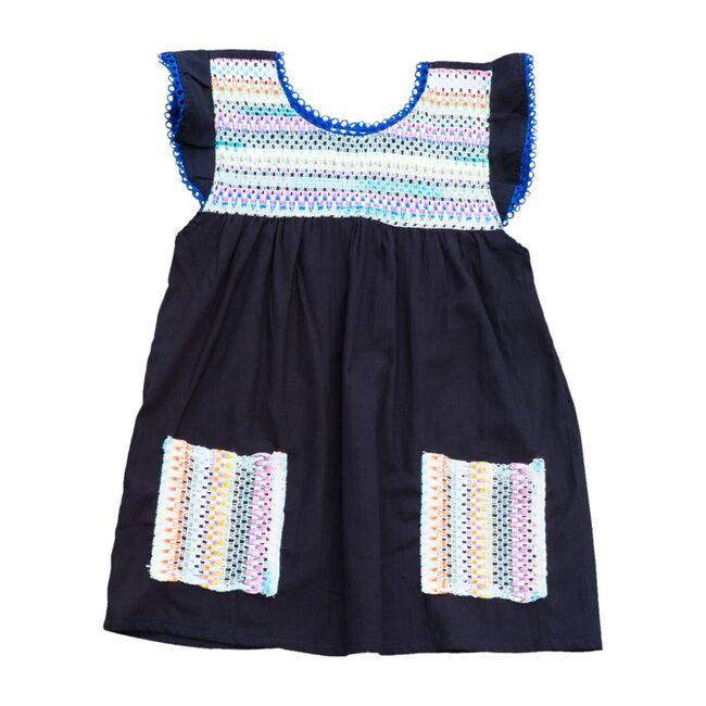 Rainbow Pocket Dress, Black