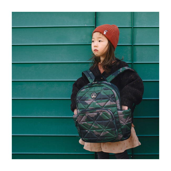 Quilted Little Companion Backpack, Camo Print