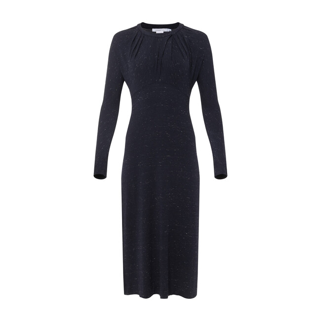 Slim Knit Dress, Marled Navy