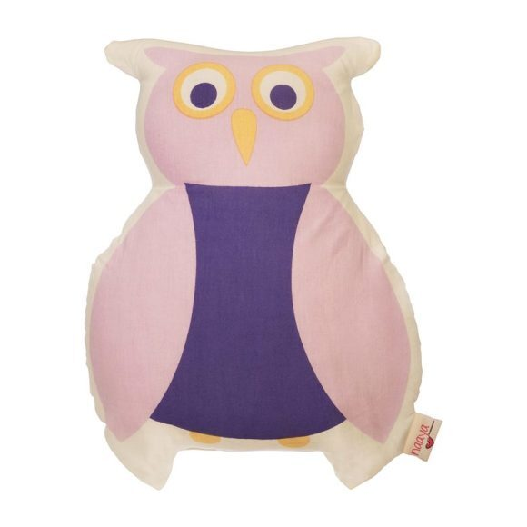 Purple Owl Large Cushion