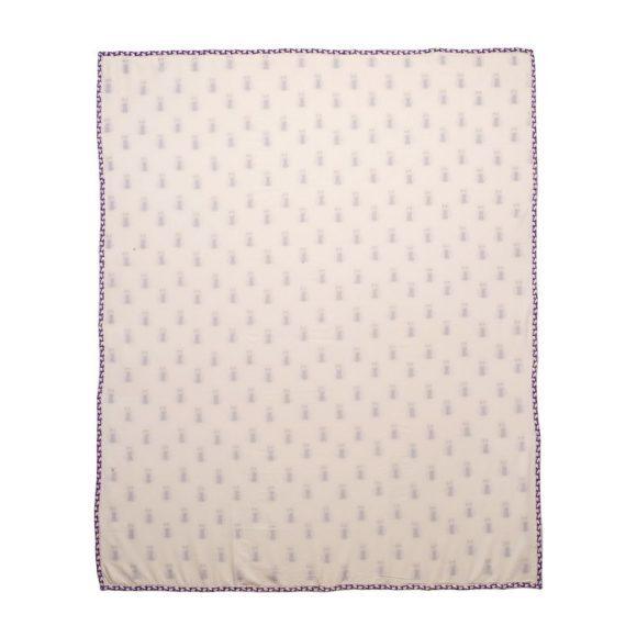 Purple Owl Organic Blanket