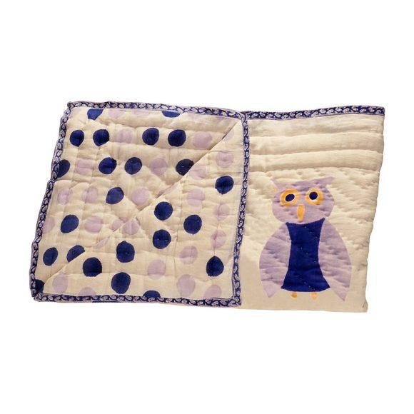 Purple Owl Organic Quilt