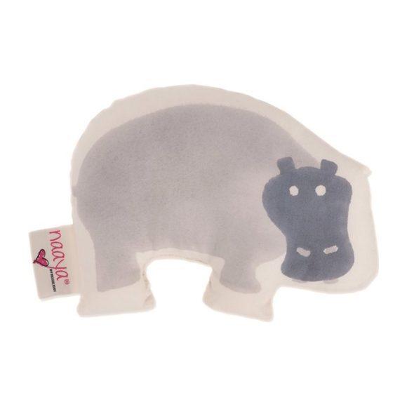 Gray Hippo Small Cushion