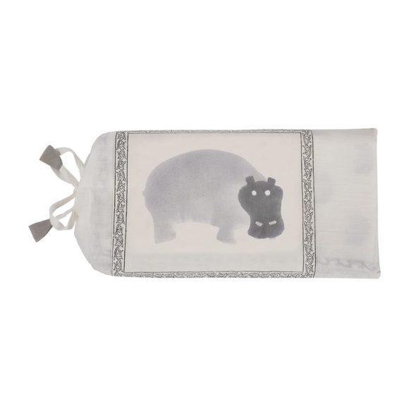 Gray Hippo Organic Blanket